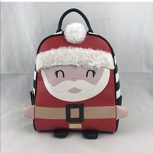Betsey Johnson Santa Claus Luv Mini Backpack